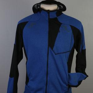 NWOT Mountain Hardwear fleece hoodie L, navy/black